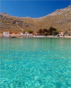 Agia Marina beach - Symi Island, Greece.