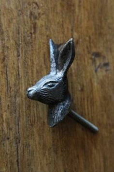 Metal Hare Knob Handle