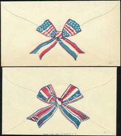 "OM40 41 2 Different ""Bows"" Union Civil War Patriotic Cover BQ115 | eBay"