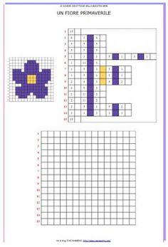 Schede per realizzare immagini primaverili in pixel art. Ogni scheda contiene l'immagine colorata, il codice e la griglia da colorare. Il ma... Computer Coding, Computer Science, Escape The Classroom, Math Sheets, Code Art, Pixel Crochet, Pixel Art, Architecture Quotes, School Programs