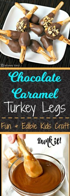 Chocolate Caramel Turkey Legs - 12 Enchanting Fall Desserts For Kids To Welcome The Sweet Smell Of Cool Air