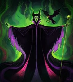 Maleficent- my favorite Disney villain! Evil, wicked, mean & nasty! Maleficent Tattoo, Disney Maleficent, Disney Villains, Disney Characters, Evil Disney, Disney Love, Disney Magic, Disney Stuff, Cartoons