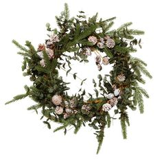 Frosted pine cone and fir Christmas wreath from The White Company