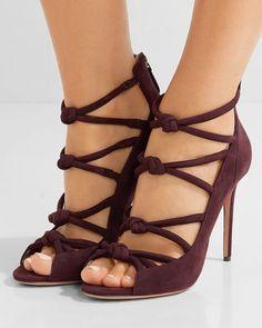 ALEXANDRE BIRMAN Knot suede sandals | Buy ➜ https://shoespost.com/alexandre-birman-knot-suede-sandals/
