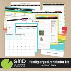 The Lilypad :: Printables :: Family Organizer Binder Kit: Starter Pack
