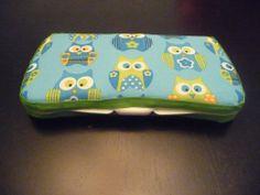 Blue owl travel baby wipes case  www.facebook.com/GabbyAbbyBoutique