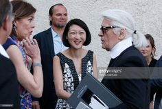 French Minister of Culture and Communication Fleur Pellerin during the opening of the 30th International Festival Of Fashion and Photography on April 23, 2015 in Hyeres, France.This year Karl Lagerfeld is artistic director of the 2015 promotion.