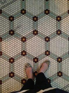 Image result for black and white hexagon tile mosaic tile