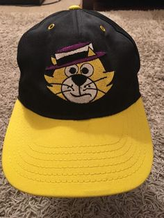 outlet store 7e917 c7042 NWT Vintage 1983 Hanna-Barbera Top Cat Yellow SnapBack Baseball Style Cap,  USA!   eBay