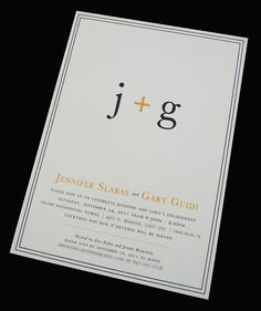 Want to modify these for invites: Couple's Initials Engagement Party Invitation by LeMotPaperie, $2.80