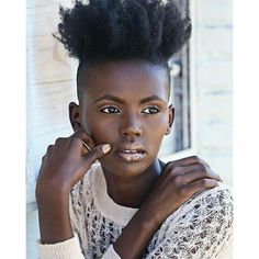***Try Hair Trigger Growth Elixir*** ========================= {Grow Lust Worthy… Hair Afro, Coily Hair, Curly Hair Styles, Natural Hair Styles, Dark Skin Beauty, Natural Beauty, Pelo Natural, Shaved Sides, Queen Hair