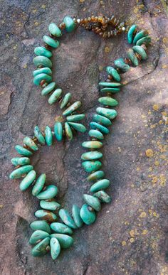 American turquoise and Baltic amber. Color and textures from such opposite sides of the world.