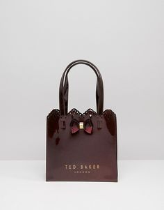 Ted Baker Small Icon in Red Glitter With Scallop Detail