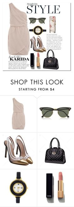 """Glamour Girl"" by mari-marishka ❤ liked on Polyvore featuring Dorothy Perkins, Ray-Ban and Chanel"