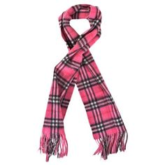 Luigi Baldo Pink Plaid Cashmere Scarf ($41) ❤ liked on Polyvore featuring accessories, scarves, pink, tartan scarves, long shawl, long scarves, tartan shawl and cashmere shawl