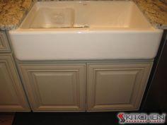 Built In Storage Around Refrigerator. Deerfield Shaker II Maple Antique  White.   White Cabinets   Pinterest   Discount Kitchen Cabinets, Kitchens  And White ...