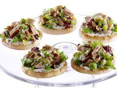 Open-Faced Tuna Tea Sandwiches with White Bean Spread recipe from Giada De Laurentiis via Food Network