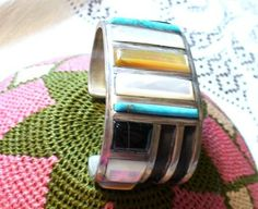 silver indian vintage bracelet
