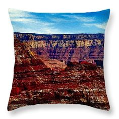 """Painting The Grand Canyon National Park Throw Pillow 14"""" x 14"""" by  Dr Bob and Nadine Johnston"""