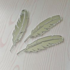Laser Cut Mirrored Feathers