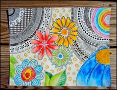 Draw Doodle and Decorate: Water Doodle…How to color doodles using watercolor pencils- RRM