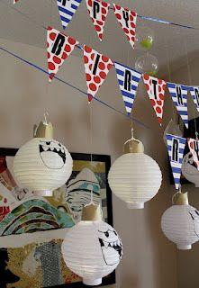 Mario Kart birthday party! -- King Boo lanterns