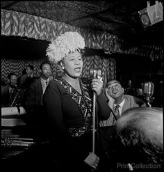 PrintCollection - Ella Fitzgerald on Stage