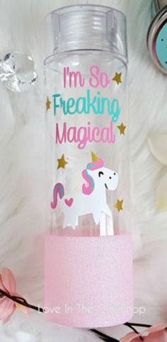 Magical unicorn water bottle Follow @ pin addict