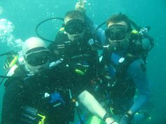 Go scuba diving with a bunch of friends...