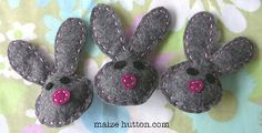 Bunny pins - she has the pattern on the site