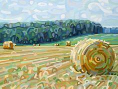 Image of Early Hay - 8.5 x 11, Fine Art Print by Mandy Budan