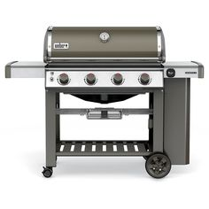 Weber Genesis II E-410 4 Burner LP Gas Grill- Smoke (Grey)