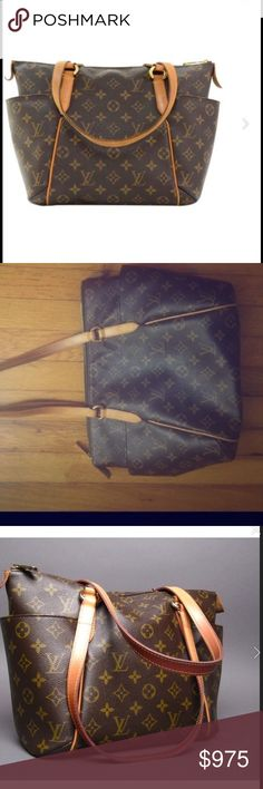 Louis Vuitton Handbag PM  Vintage & rare Louis Vuitton handbag in original colors brown/tan.  A classic & 100% real purse.  Louis Vuitton Bags Totes