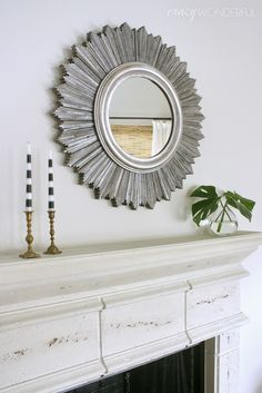Crazy Wonderful: sunburst mirror DIY