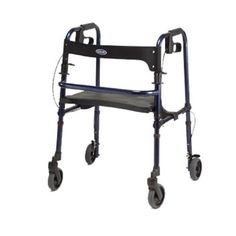 """The Invacare Rollite Rollator line is unlike any other rollator line in the industry. Invacare has taken the Rollite Rollator one step further, offering the sizes, wheel types and colors that consumers want. The Rollite line offers adult and junior sizes in different colors. For improved mobility over rougher terrain, large 8"""" wheel models are available in adult and tall sizes (Midnight Blue color). #rollator #orthopedic #patients"""