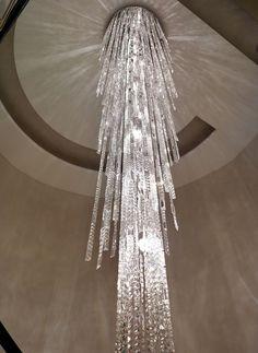 Spiral crystal chandelier multiple building chandelier restaurant hall lighting interior lighting vintage lighting modern lighting lighting design crystal light fixture light fixtures chandelier lamps aloadofball Choice Image