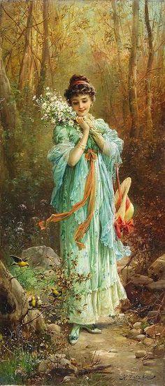 "Hans Zatzka (1859-1949), ""Edelweiss La Foret"""