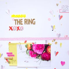 The Ring. by ScatteredConfetti // #scrapbooking #colorcastdesigns #dearlizzy #americancrafts