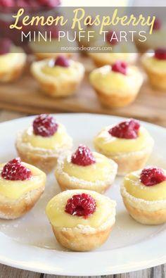 Lemon Raspberry Mini Puff Tarts