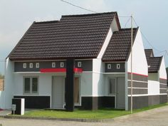 70 Examples of Simple House Models that Look Luxurious and Modern - Home Design Minimalist Bungalow House Design, Small House Design, Modern House Design, New Model House, Cheap Houses For Sale, One Storey House, Modern Minimalist House, Rive Nord, House Design Pictures
