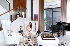 Bea Alonzo talks about her life in a condo, current home, and dream house for her future family. Bea Alonzo, I Work Hard, My House, Condo, Stairs, House Inspirations, House Design, Home, Stairway