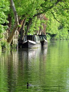 Grand Union Canal A picture of: Harefield Barge Boat, Canal Barge, Canal Boat, Pictures Of England, Houseboat Living, Narrowboat, The Beautiful Country, Beautiful Places To Travel, Natural
