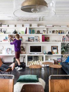 Idée pour créer une bibliothèque-meuble TV sans surcharger