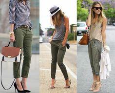 quoi mettre avec un pantalon kaki, combiner avec gris, beige