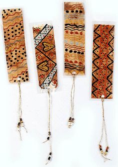 Beautifully designed bookmarks created from recycled tea bags that have been emptied and dried in the sun.