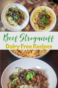 These dairy free beef stroganoff recipes have been chosen just for you, taking out the guesswork and making it easier to eat creamy comfort foods. Chicken Recipes Dairy Free, Healthy Pasta Recipes, Delicious Dinner Recipes, Crockpot Recipes, Instant Pot Yogurt Recipe, Paleo Ground Beef, Ground Beef Stroganoff, Stroganoff Recipe, How To Eat Paleo