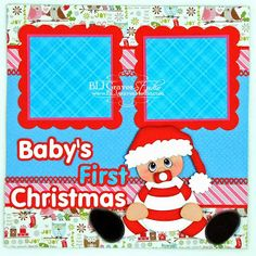 BLJ Graves Studio: Baby's First Christmas Scrapbook Page