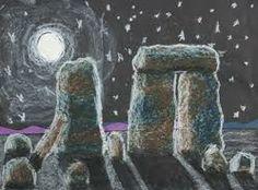 Stone Henge art idea pastel/chalks - Stone Age to Iron Age