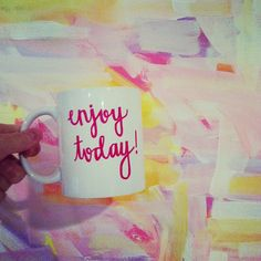 Evelyn Henson creates original art and gifts for a brightly decorated life. Cute Coffee Mugs, Cool Mugs, I Love Coffee, Tea Mugs, Coffee Cups, Evelyn Henson, Cute Cups, My Cup Of Tea, All Things Cute