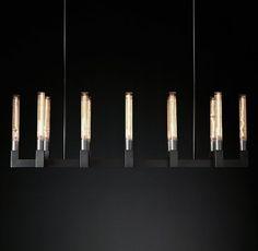 レストレーションハードウェア「RH Modern」シャンデリア/Cannel Linear Chandelier_Bronze